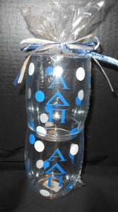ALPHA DELTA PI ACRYLIC GLASS SET