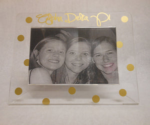 ALPHA DELTA PI GOLD DOT FRAME