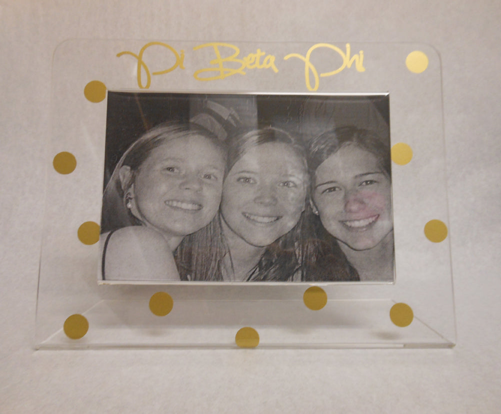 PI BETA PHI GOLD DOT FRAME
