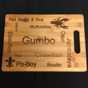 GUMBO BAMBOO CUTTING BOARD