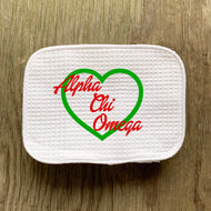 ALPHA CHI OMEGA HEART COSMETIC