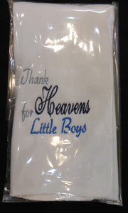 THANK HEAVENS FOR LITTLE BOYS BURP CLOTH