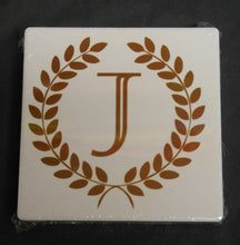 WREATH INITIAL COASTER SET OF 2