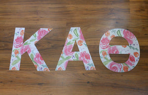 KAPPA ALPHA THETA FLORAL LETTERS