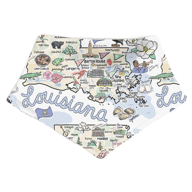 LOUISIANA MAP BANDANA BIB