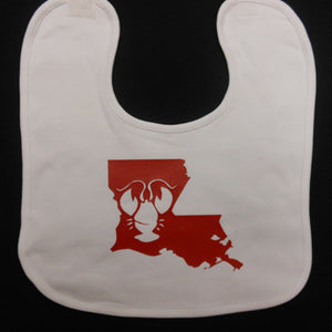 LOUISIANA CRAWFISH BABY BIB