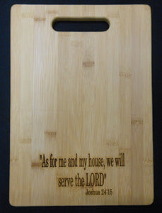 BIBLE VERSE BAMBOO BOARD