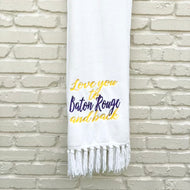 LOVE YOU TO BATON ROUGE AND BACK PLUSH THROW BLANKET