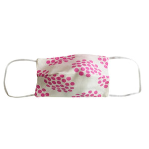 KIDS NON MEDICAL FACE MASK PINK DOTS