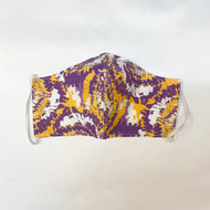 NON MEDICAL FACE MASK STYLE 2 PURPLE & GOLD TIE DYE