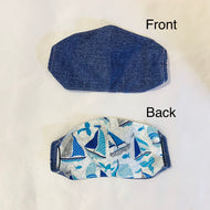 NON MEDICAL FASHION MASK STYLE 2 WITH FILTER POCKET BLUE BOATS