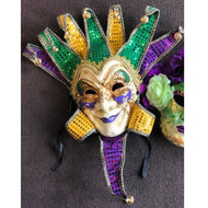 LARGE MARDI GRAS FACE MASK