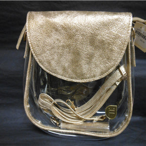 MONICA GOLD CLEAR PURSE