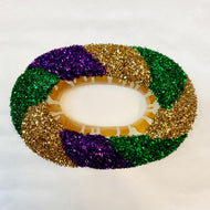 FOAM MARDI GRAS KING CAKE