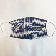 NON MEDICAL FACE MASK WITH POCKET NAVY STRIPE