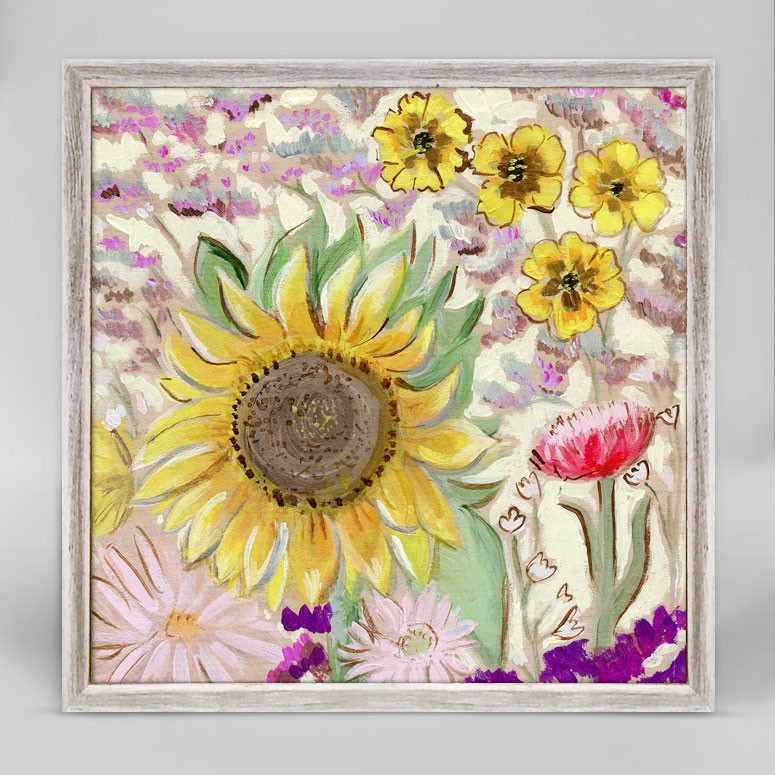 SUNFLOWER BOUQUET 6X6 CANVAS WALL ART