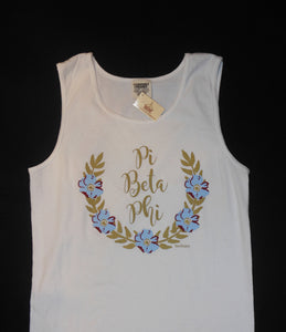 PI BETA PHI FLOWER WREATH TANK