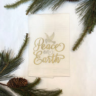 PEACE ON EARTH HAND TOWEL