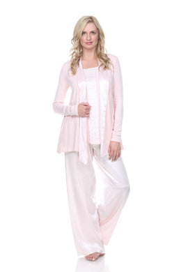 SHELBY JACKET PAJAMA ROBE BLUSH