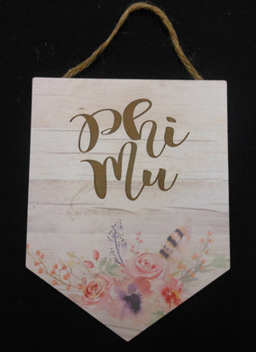 PHI MU WOOD PLAQUE