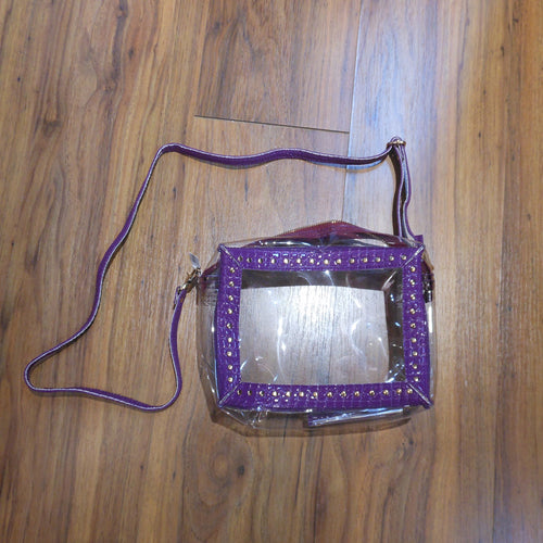 ROCK N ROLLA CLEAR PURSE PURPLE