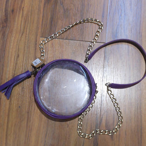 ROUND CLEAR PURSE PURPLE
