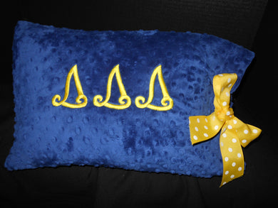 DELTA DELTA DELTA RIBBON PILLOW