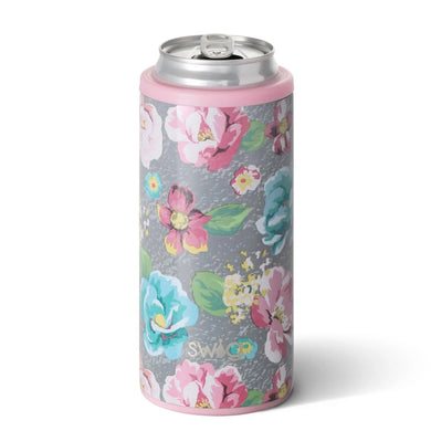 12 OZ SKINNY CAN COOLER GARDEN PARTY