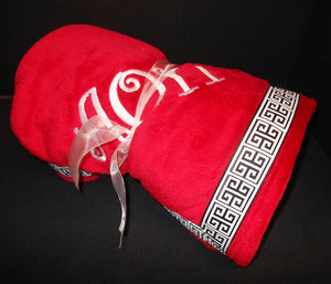 ALPHA OMICRON PI RIBBON BLANKET