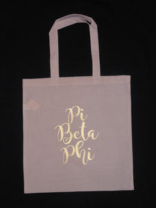 PI BETA PHI TOTE BAG