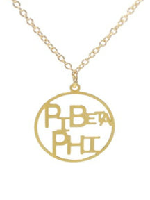 PI BETA PHI DISC NECKLACE