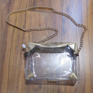 SOPHIE GOLD CLEAR PURSE