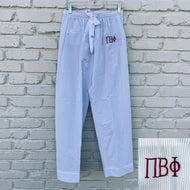 PI BETA PHI SEERSUCKER PAJAMA PANTS
