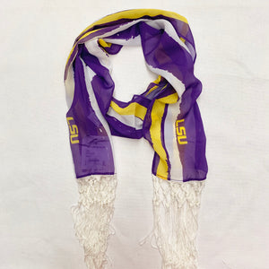 LOUISIANA STATE UNIVERSITY DINA FRINGE SCARF
