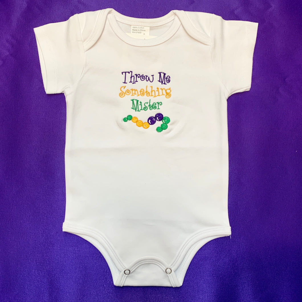 THROW ME SOMETHING MISTER BABY ONESIE 12 MONTH