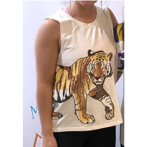 TIGER WRAP AROUND TOP