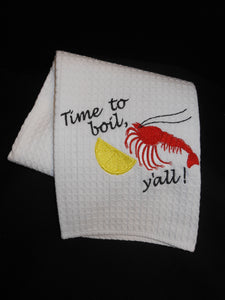 TIME TO BOIL CRAWFISH HAND TOWEL