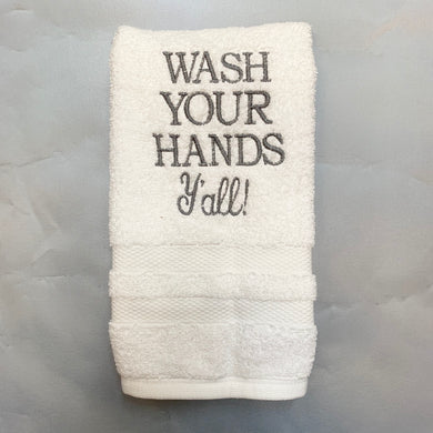 WASH YOUR HANDS TERRY HAND TOWEL