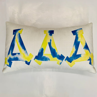 DELTA DELTA DELTA WATERCOLOR PILLOW