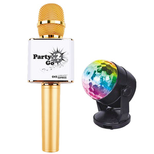 PARTY 2 GO MICROPHONE GOLD
