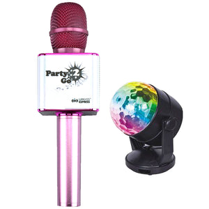 PARTY 2 GO MICROPHONE PINK