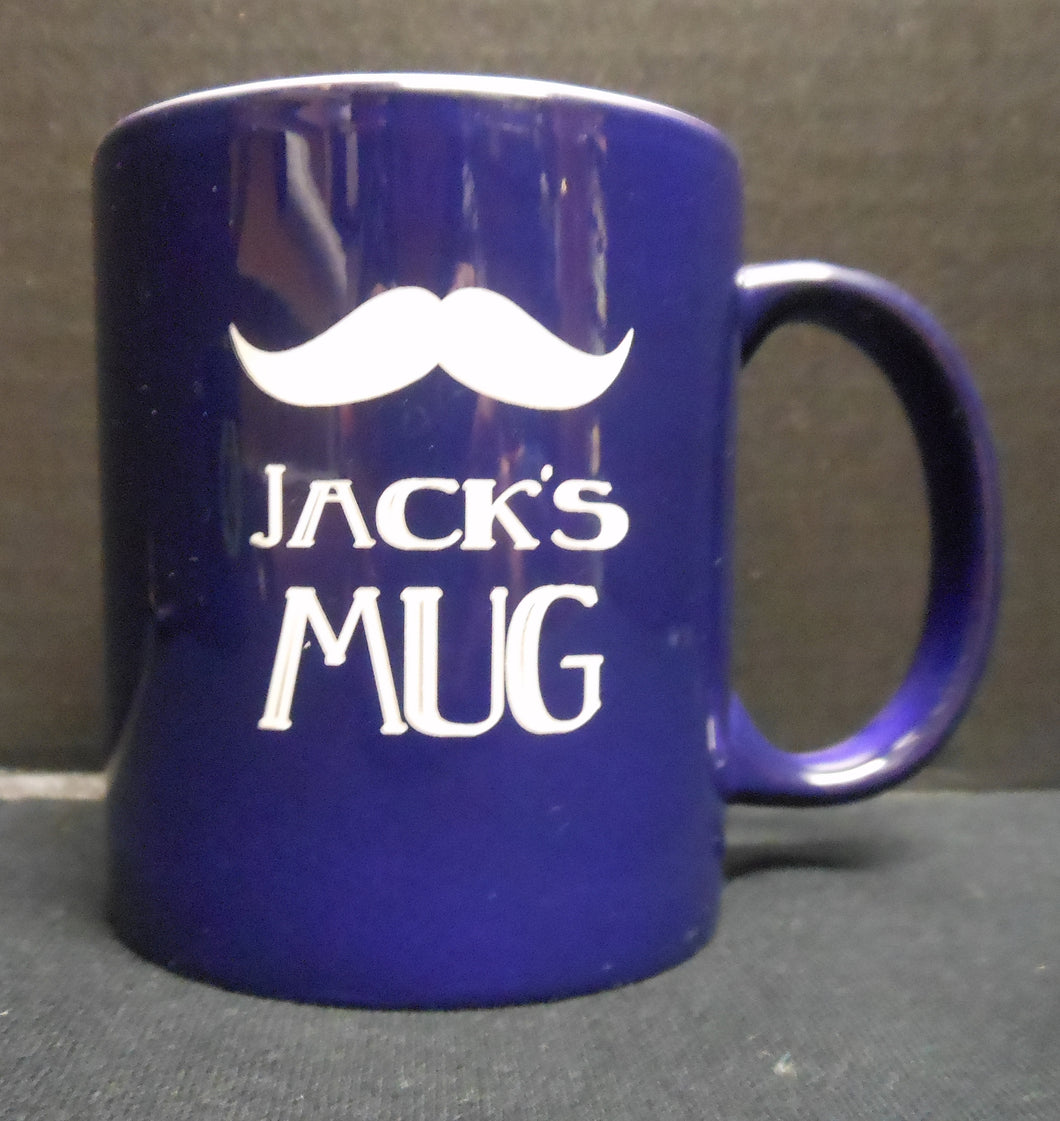PERSONALIZED WHITE AND NAVY MUG