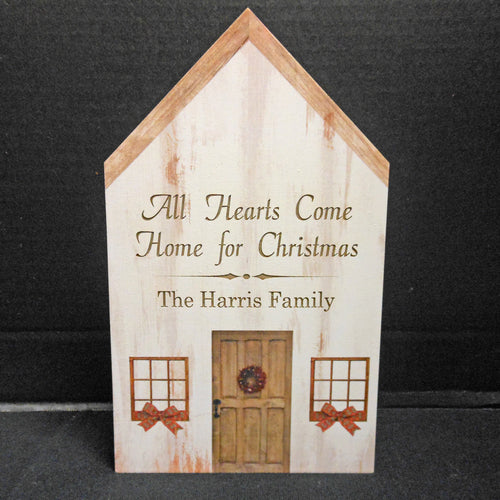 PERSONALIZED CHRISTMAS HOUSE BLOCK