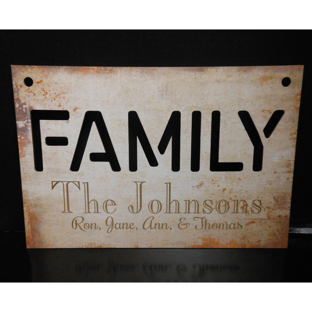 PERSONALIZED FAMILY CUTOUT SIGN
