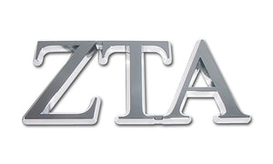 ZETA TAU ALPHA CHROME EMBLEM