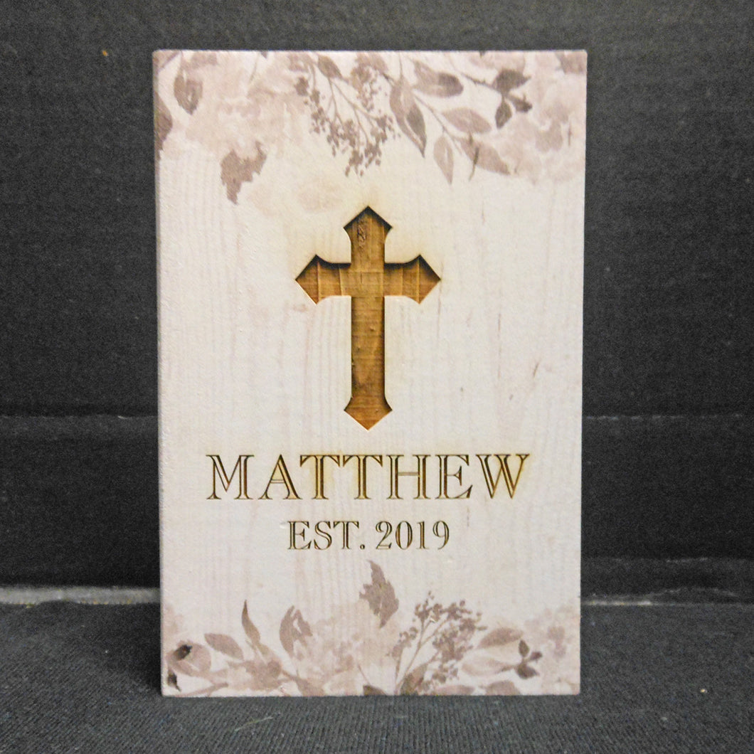 PERSONALIZED FLORAL BLOCK