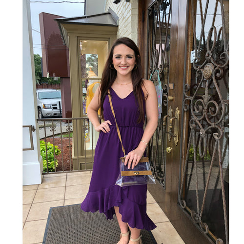 HIGH LOW DRESS PURPLE