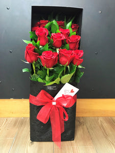 A Dozen Red Roses - Boxed