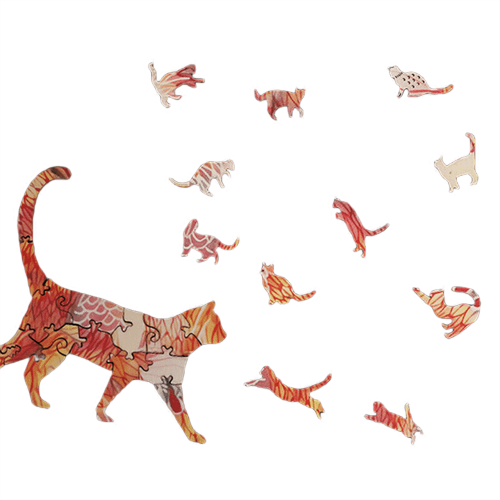 House Cat Wooden Puzzle