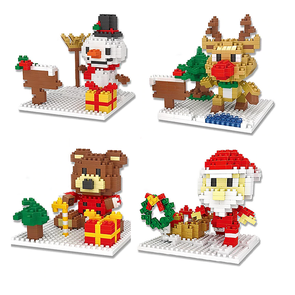 Cute Santa Claus |  3d puzzle | nano blocks | brickcenter.myshopify.com